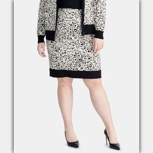 RACHEL Rachel Roy Printed Sweater Skirt